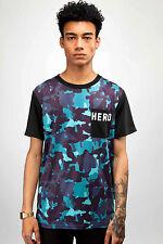 Heroe's Heroine Blue Camo Pocket T-shirt Medium box7514 C