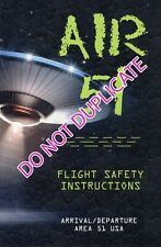 AIR (AREA) 51 SCI FI SAFETY CARD