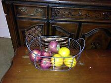 """Oval Wire Basket Chicken Net Basket Storage Basket /Copper Wire ,Large13.5"""""""