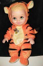 "1999 Lauer Water Babies TIGGER 10"" Doll Disney Costume Green Eyes Pooh Pal"
