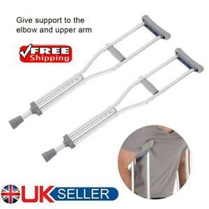 Drive Adjustable Height Lightweight Aluminium Underarm Crutches Pair Walking Aid
