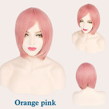 BOB Extra thick Short Straight Cosplay Anime Carnival party Wig heat resistant