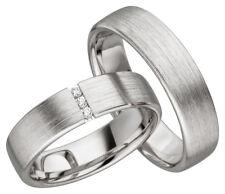 2x JC Trauringe Eheringe 925 Silber Verlobungsring inkl.Gravur & Etui JC001