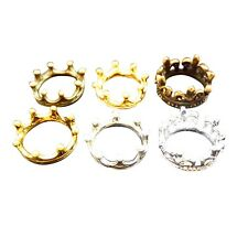20PCS Size 3 Antique Style Crown Rings Jewelry Findings Fashion Ring
