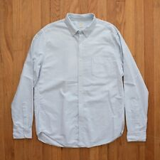 J Crew Men's Striped Long Sleeve Button Front Oxford Shirt Large