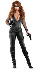 Sexy Starline Bankrobber Babe Large Black VNeck Catsuit Burglar Costume S6016