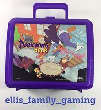 Vintage Disney Darkwing Duck Plastic Lunchbox Aladdin USA - Ships Fast