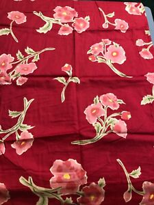Pottery Barn Pillow Sham Pair Standard Red Floral Cotton bedding