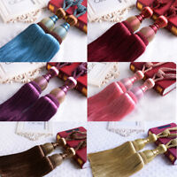 1 Pair Large Curtain Holdbacks Luxury Tie Backs Tassel Curtain Rope Tiebacks