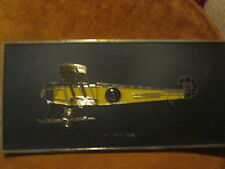 1917 AVRO PLAQUE BLACK / GOLD 3D DESIGN AEROPLANE PLANE GLIDER EVELYN DOWN