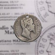 1 Lira 1859 B Bologna R Rara (Re Eletto - Vitt Em II) B Forata LOT1539