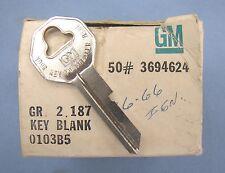 B-10 Key Blanks 50 Pieces NOS GM Briggs & Stratton Original Part GR 2.187 032018
