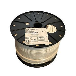500' Reel Spool Commscope F677TSVV White RG6 Single Cable Coax Coaxial Satellite