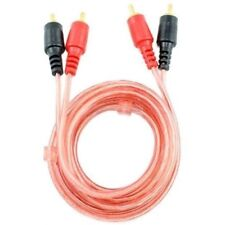 6 FT 2 RCA Jack Stereo Dual RCA Audio Speaker Male to Male Patch Cable Red 6FT