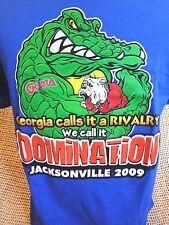 "Georgia Bulldogs vs Florida Gators ""WE CALL IT DOMINATION"" T-Shirt Size LRG~NWT"