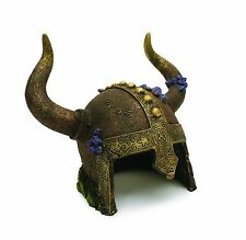 Viking Helmet Cave Aquarium Decorative Ornament Decoration Fish Tank Bowl Decor