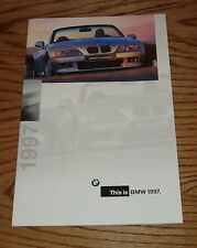 Original 1997 BMW Full Line Sales Brochure 97 Z3 Roadster M3 Coupe