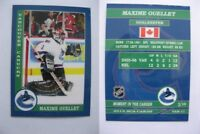 2015 SCA Maxime Ouellet vancouver canucks goalie never issued produced #d/10