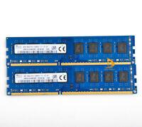 Desktop Memory 16GB SK Hynix 2X 8GB 2Rx8 PC3-12800 DDR3 1600MHz 1.5V DIMM RAM &