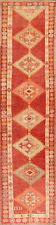 MUTED Geometric Hand-Knotted Anatolian Antique Style Oriental Runner Rug 3'x12'