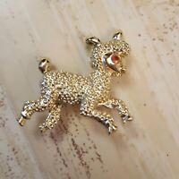 """light gold tone 1"""" mini lamb brooch pin fashion jewelry"""