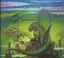Tanzania Bloque 250 (edición completa) usado 1994 prehistoria animales
