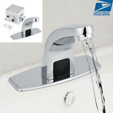 Automatic Electronic Sensor Touchless Faucet Hands Free Vessel Sink Tap G1/2''