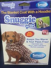 Original ❤️ SNUGGIE for Dogs Coat Hoodie Size Small Leopard Print Blanket