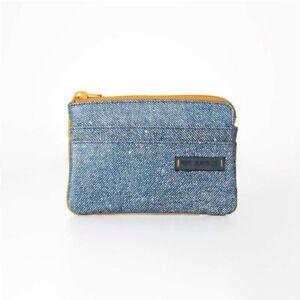 Portamonete PEPE JEANS 7450162 Azzurro/Arancione Con Cerniera Misura 11x8x1,5cm