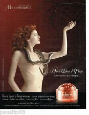 PUBLICITE ADVERTISING 116  2006   Cosmétiques cremes upon a time Marionnaud  nue