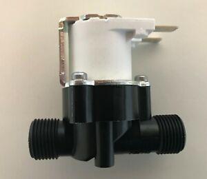 """Elettrovalvola nylon servocomandata 3/8"""" MM 220V AC Osmosi Depuratore RPE"""