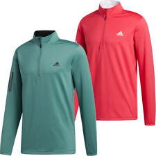 adidas Golf 3-Stripes Mens 1/4 Zip Midlayer Sweater Pullover Sports Top
