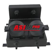 Undercar Aluminum Surge Tank + 2 Bosch Fuel Pump Brackets BLACK Alloy PRO