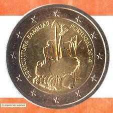 Sondermünzen Portugal: 2 Euro Münze 2014 Landwirtschaft Sondermünze Gedenkmünze