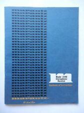 MARANTZ 2240 Stereophonic istruzioni instruction booklet vintage HI FI