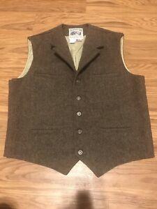 Schaefer Outfitter brown Herringbone Waistcoat Ranch Vest Men's XL - Style 707