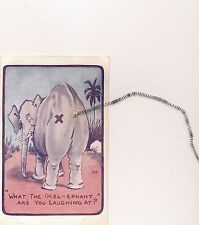 POSTCARD  COMIC   Elephant Related   What the (h)el....