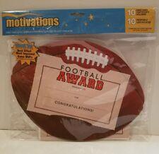 Southworth Motivations Football Certificate Award Kit pkg of 10 New!