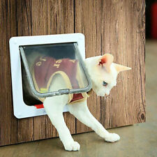 Pet Safe Staywell Manual Cat Flap Pet Door 4 Way Locking In White L-M-S 3 Size