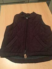 GAP Baby Boy 6-12 Months Brown Zip-Up Quilted Vest