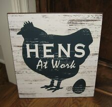 CHICKEN Egg Hen Wall SIGN Picture*Primitive French Country Farmhouse Barn Decor