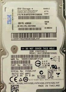 """HGST HUC109090CSS601 900GB 10K SAS 6Gbps 2.5"""" SFF HDD HARD DRIVE  FRU 45W9609"""