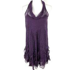 Rebecca Taylor Swiss Dot Silk Ruffle Dress Size 6