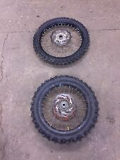 Ktm Exc 250 2011 Pair Of Wheels Rims Disks Sprocket