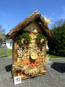 Insektenhotel für Wildbienen /  Schmetterling und 1x Blumenwiese geschenkt  (12)