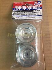 Tamiya 54737 1/10 RC Matte Plated Dish Wheels - Silver 26mm Width/Offset +2