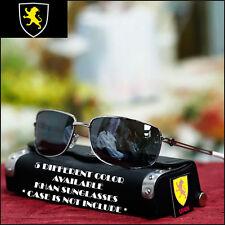 Men Khan Aviator Sunglasses Sports Biker Fashion Summer Shades Silver / White