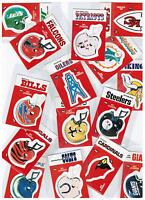 1988 RARE Fleer NFL Football Team Sticker/Checklist * Pick Your Team *