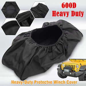 Waterproof Soft Dust Winch Cover Heavy Duty Fits Electric12,000LB Capacity US