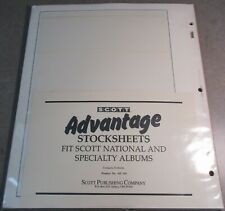 SCOTT ADVANTAGE STOCK SHEETS PRODUCT # AD 114 W/FREE SHP.